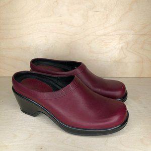 Dansko Size 37 Slip On Shoes Red Womens Heels